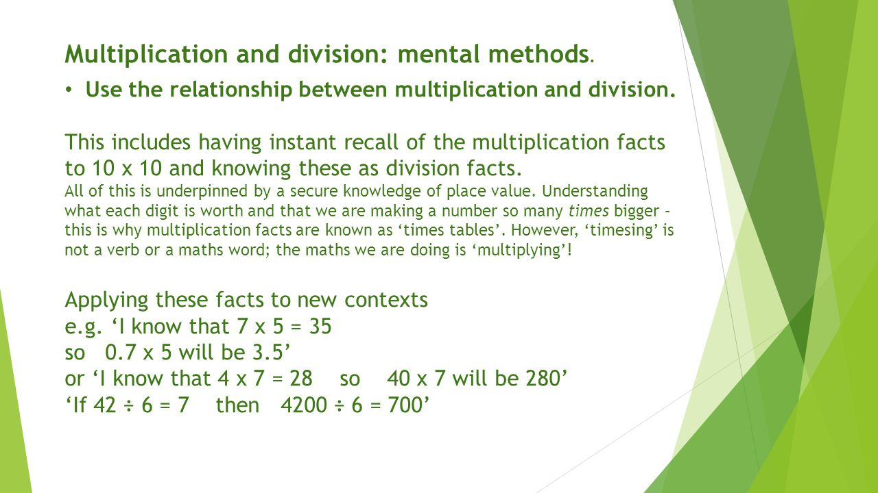 Multiplication and division mental methods ppt video online multiplication and division mental methods gamestrikefo Image collections