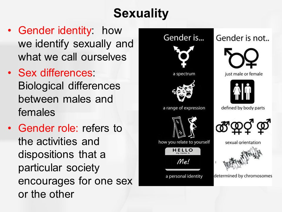 Are mistaken. The difference between sex and gender
