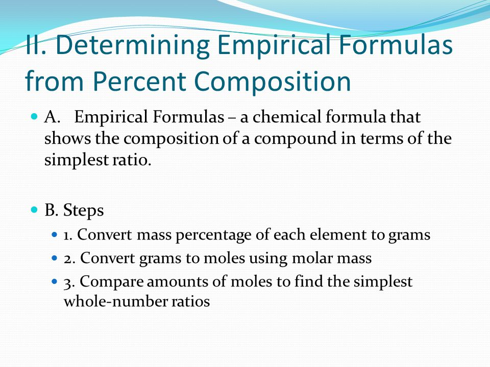 Percent Composition and Empirical Formula ppt video online download – Chemistry Percent Composition Worksheet