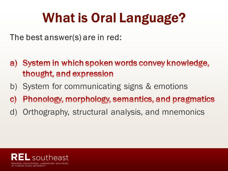 the importance of oral language Ero articulates the importance of oral language to lay better foundations for learning ero articulates the importance of oral  importance of oral language.