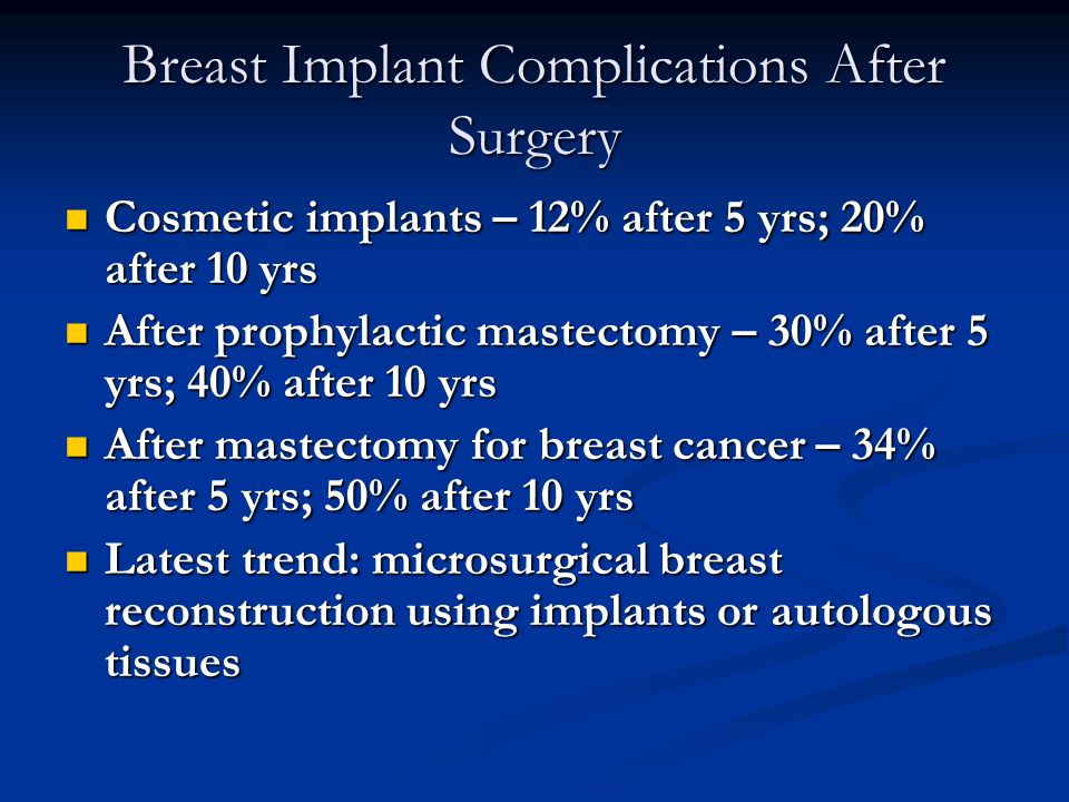 Essays on breast implant risk