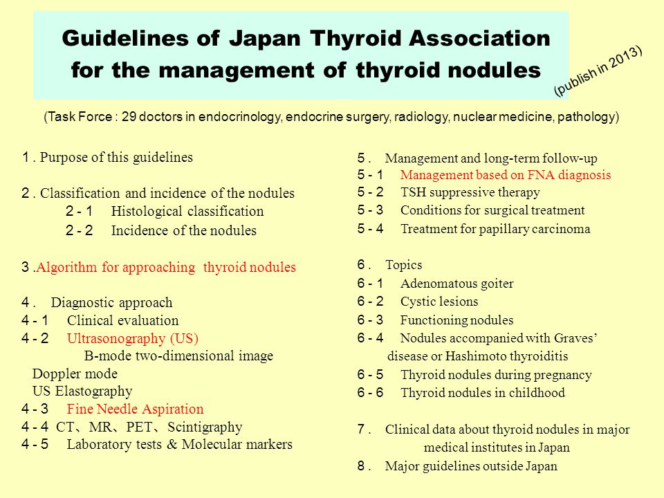 Thyroid nodules come to clinical attention when noted by the patient by a clinician during routine physical examination or during a radiologic procedure