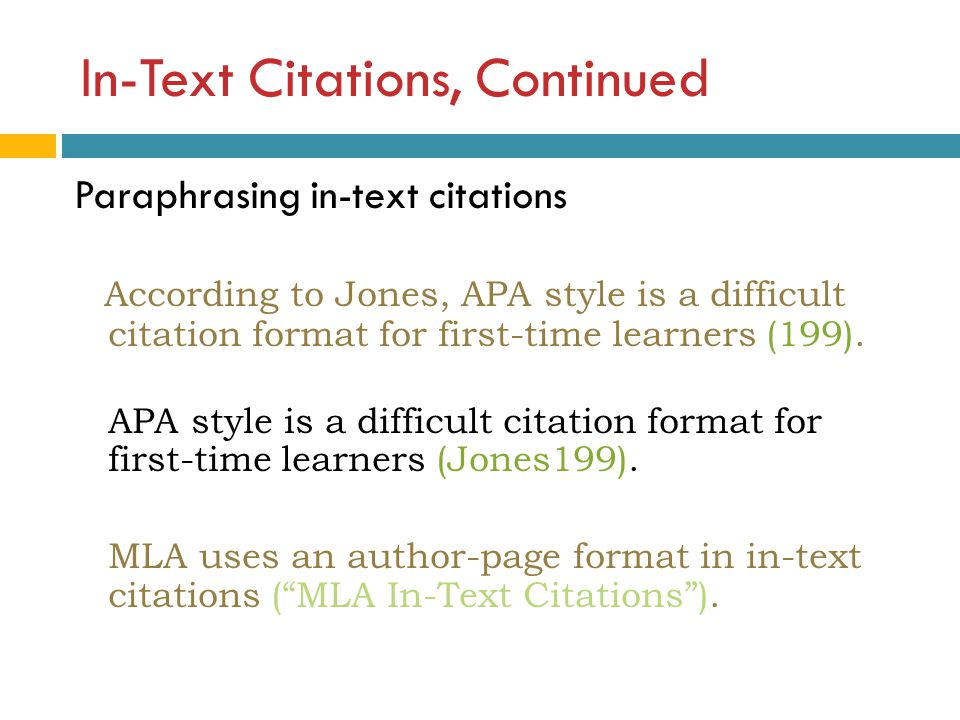 How to cite a paraphrased paragraph in apa format