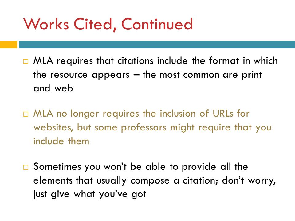 mla style  an introduction