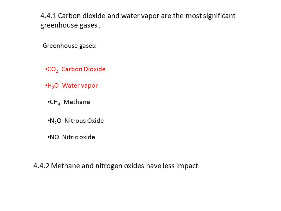 4.4.2 Methane and nitrogen oxides have less impact