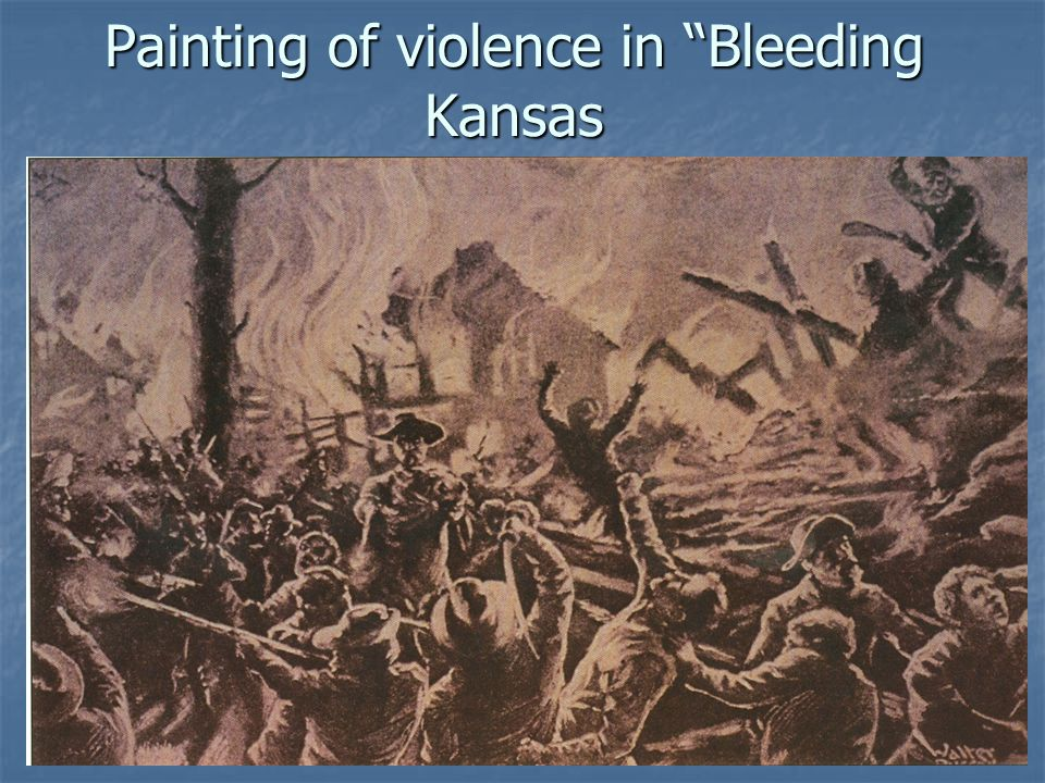 Painting of violence in Bleeding Kansas