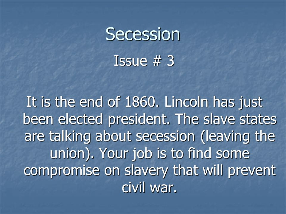 Secession Issue # 3.