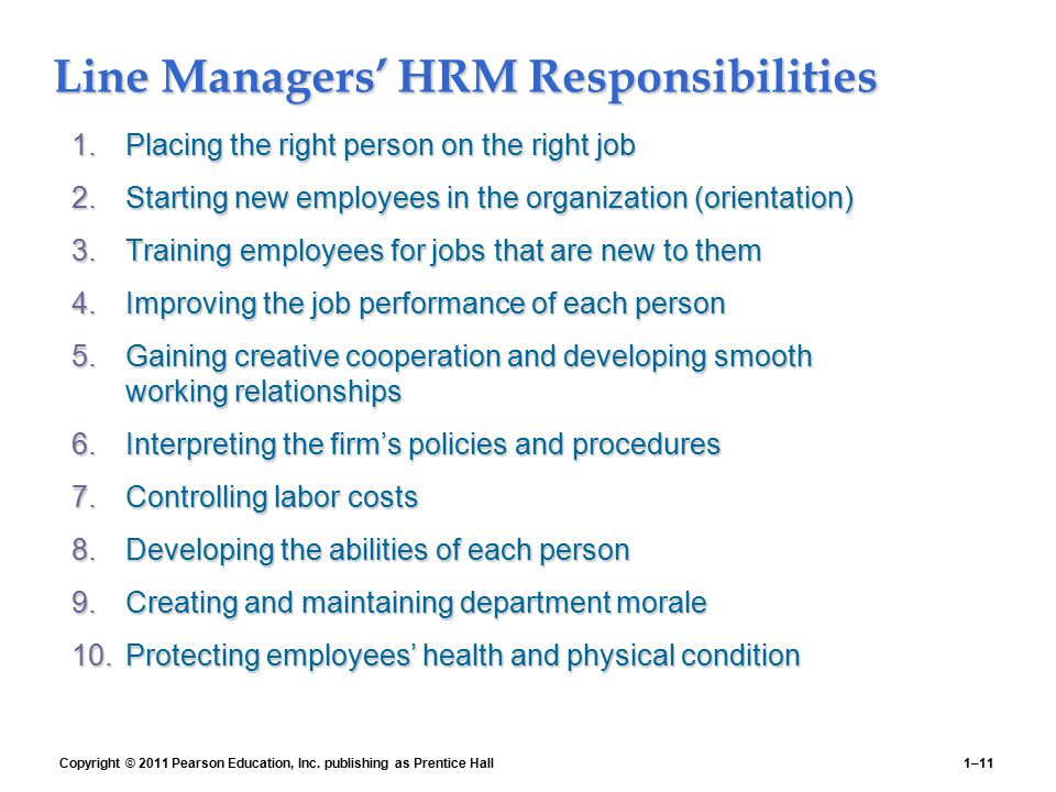 an analysis of the roles carried out by personnel managers Strategic planning plays an important role in how productive the organization is table 21 examples of differences between personnel management and hrm personnel management focus.
