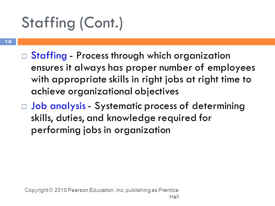 staffing human resource management and employees Staffing and human resource management  hr management: laws and regulations  employees are also protected by.