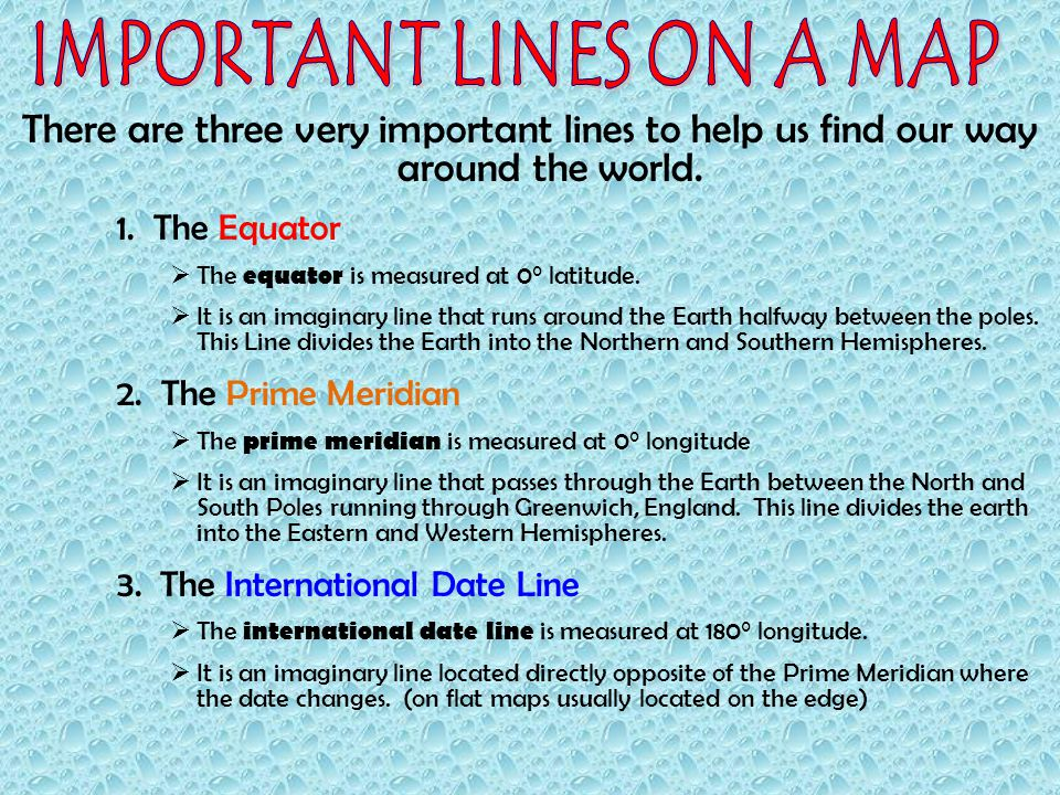Understanding latitude longitude ppt video online download important lines on a map gumiabroncs Gallery