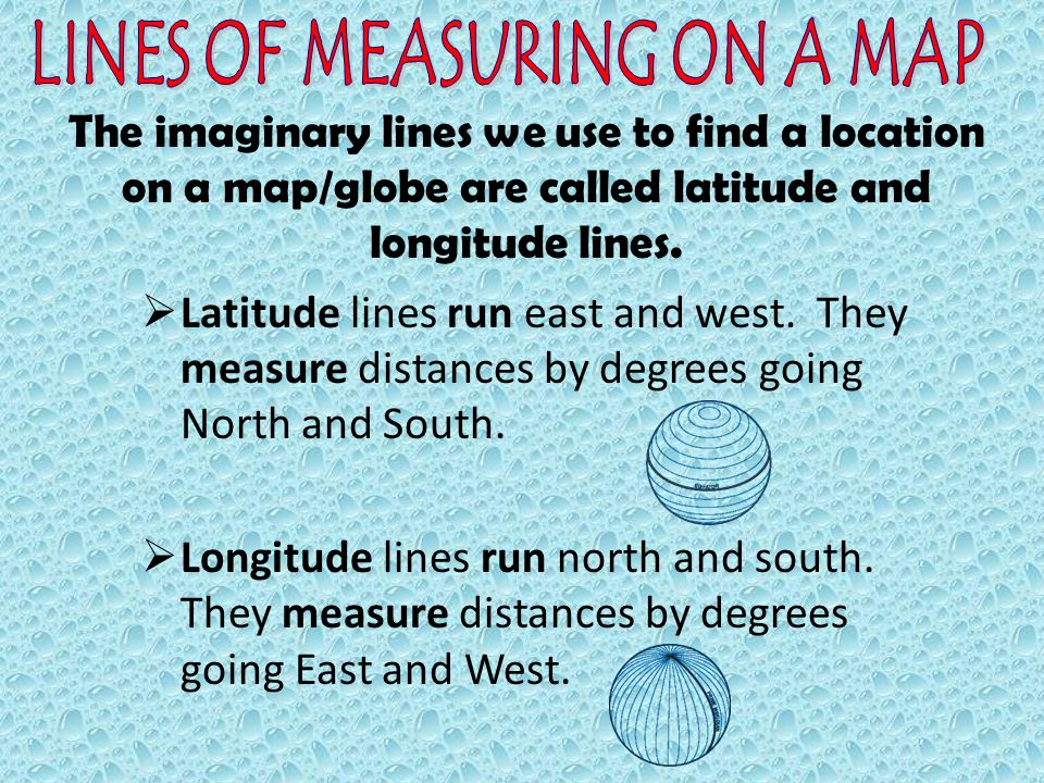LINES OF MEASURING ON A MAP