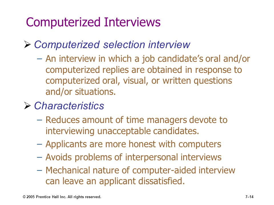 Computerized Interviews