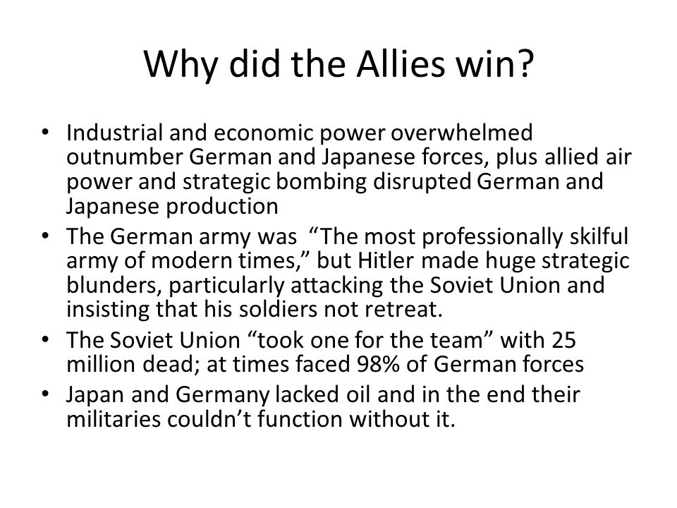 why was it the allies rather What if the allies had bombed auschwitz facebook but rather why the allies historynetcom is brought to you by world history group.