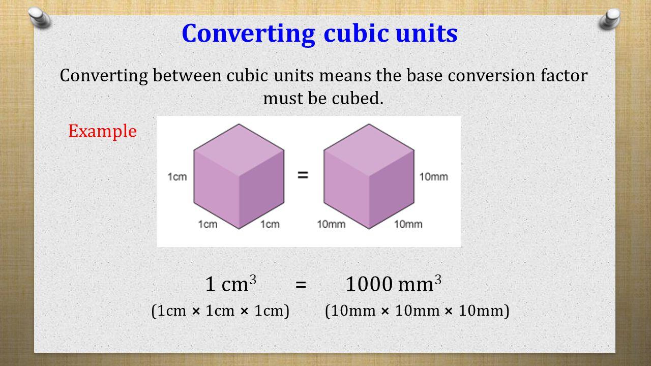 Converting Cubic Units