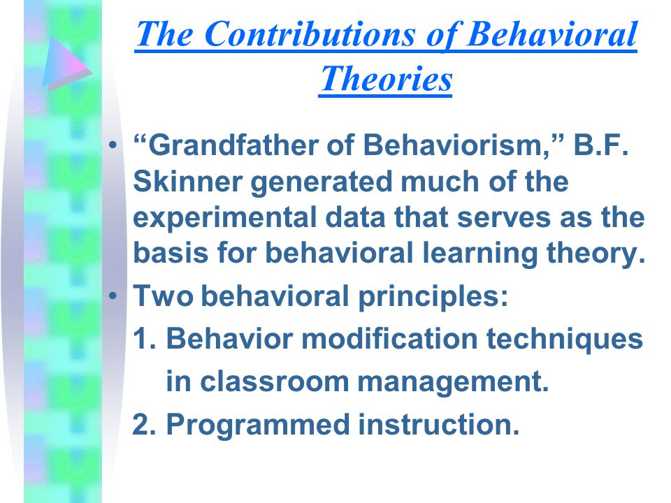 The Contributions of Behavioral Theories