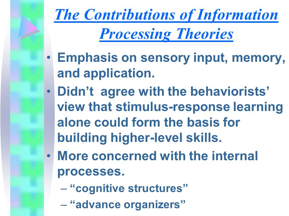 The Contributions of Information Processing Theories