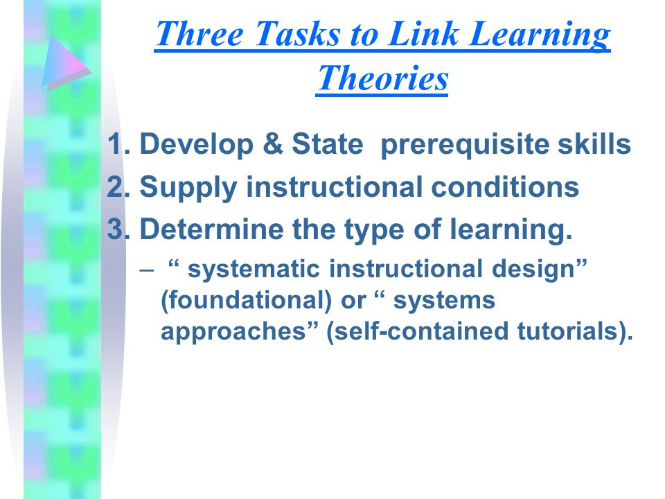 Three Tasks to Link Learning Theories