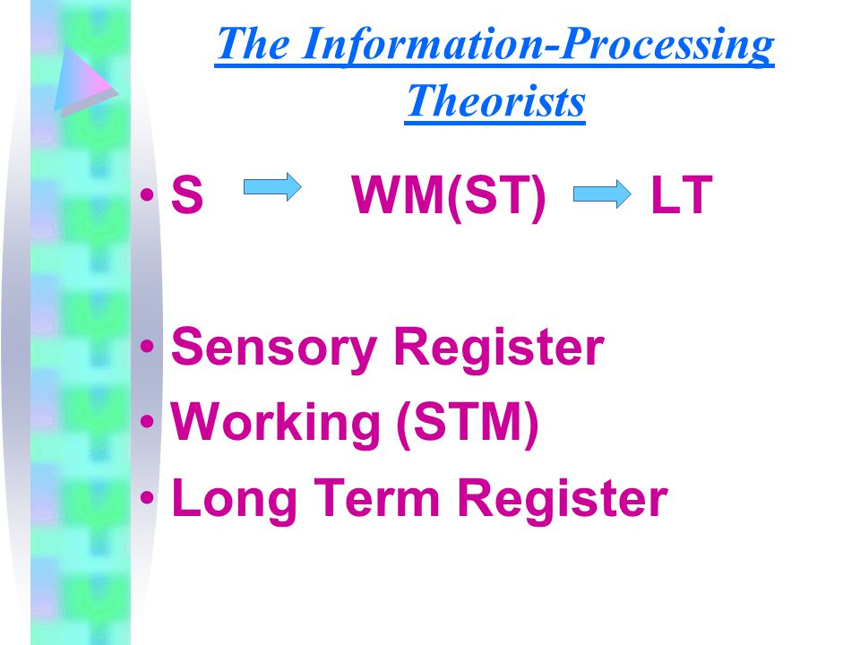 The Information-Processing Theorists
