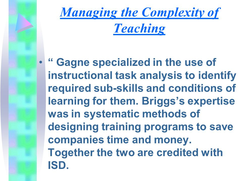 Managing the Complexity of Teaching