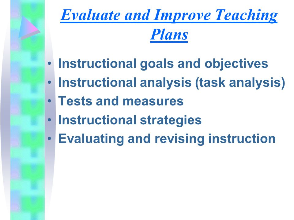 Evaluate and Improve Teaching Plans
