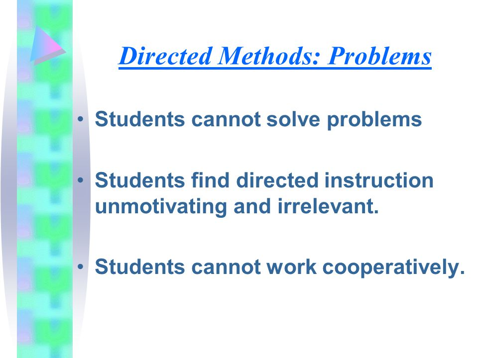 Directed Methods: Problems