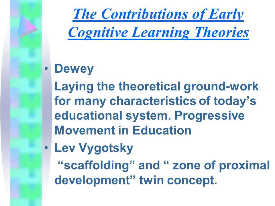 The Contributions of Early Cognitive Learning Theories