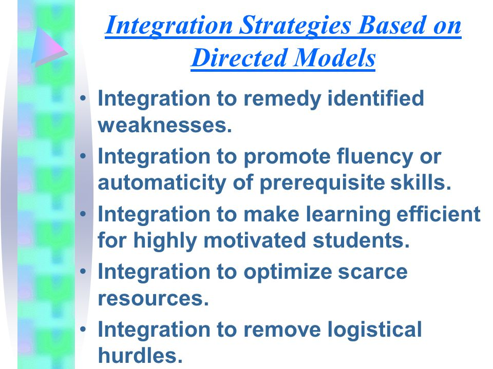Integration Strategies Based on Directed Models