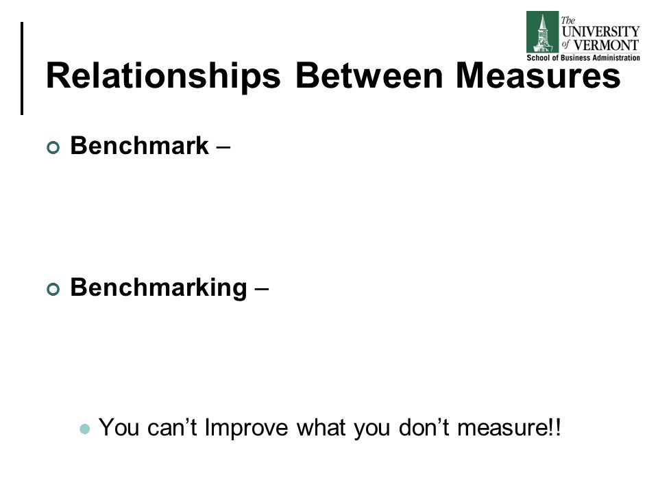 Relationships Between Measures
