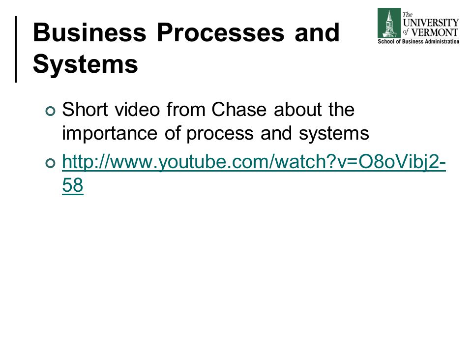 Business Processes and Systems