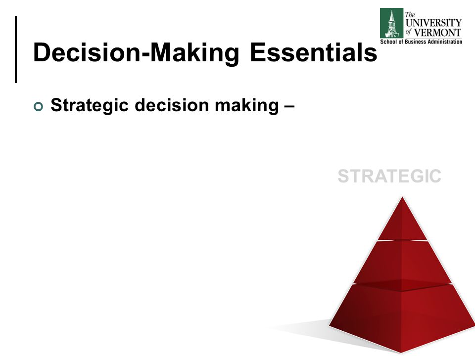 Decision-Making Essentials