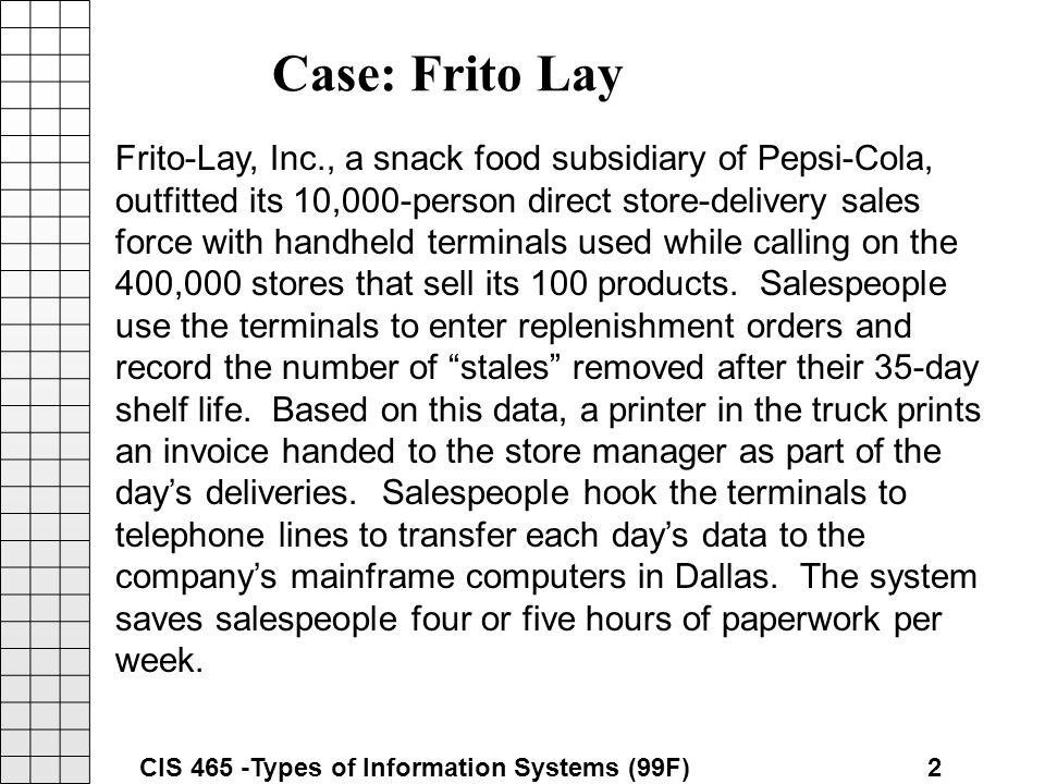 frito lay case Frito lay achieves changes in human behavior with the speed of trust and has a record year.