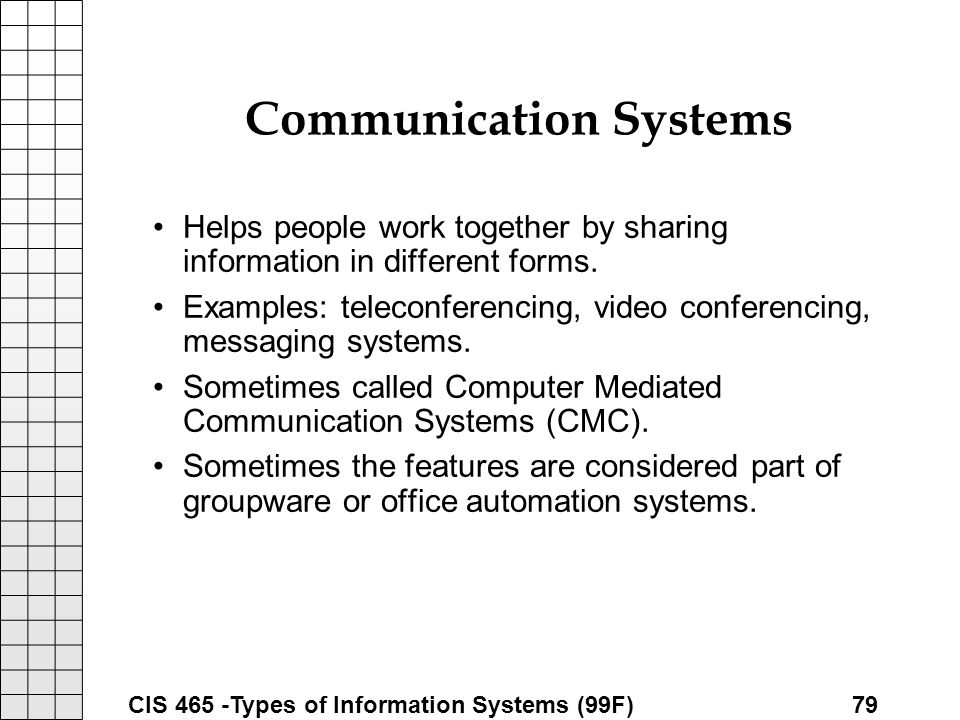 Types of Information Systems ppt download – Types of Office Communication