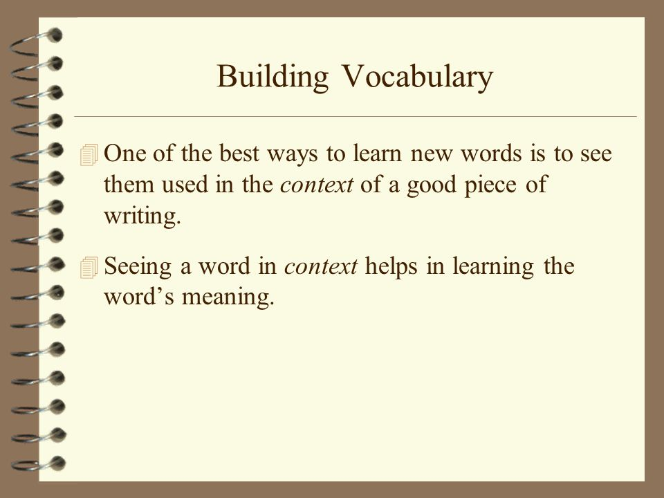 Doing It Differently: Tips for Teaching Vocabulary | Edutopia