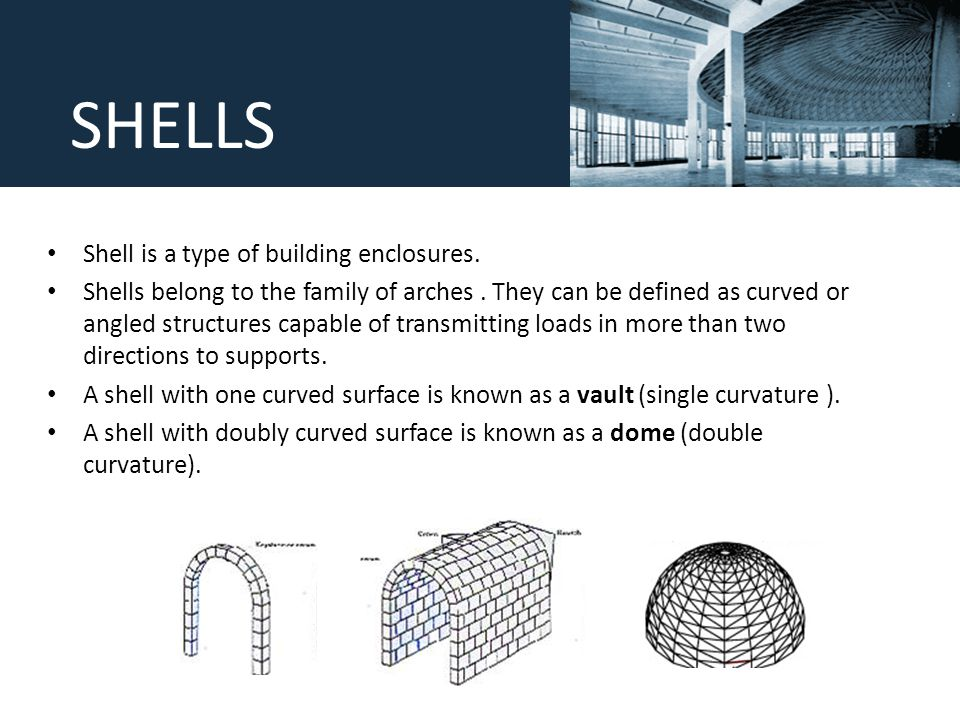 Shells And Domes Ppt Video Online Download