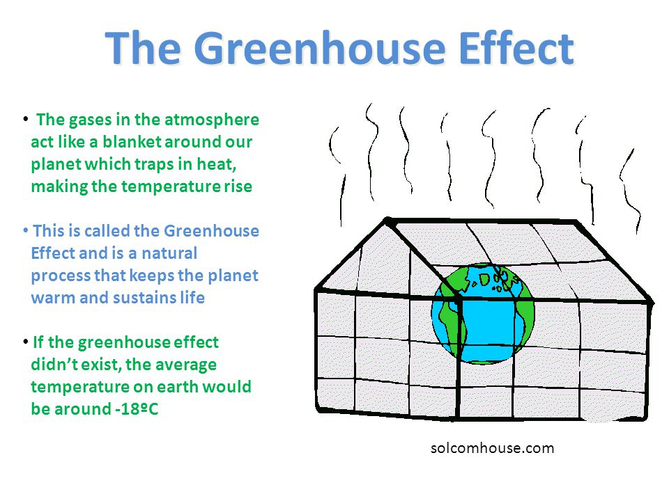 The Greenhouse Effect The gases in the atmosphere