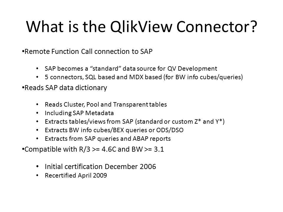 What Is The Qlikview Connector Ppt Video Online Download