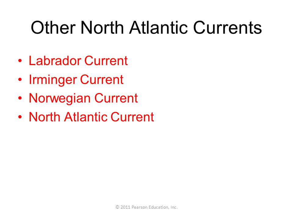 Other North Atlantic Currents