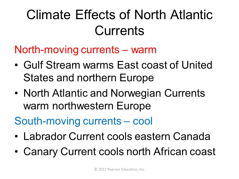 Climate Effects of North Atlantic Currents
