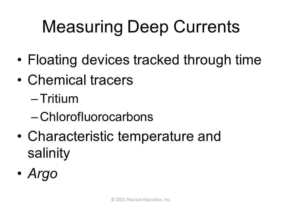 Measuring Deep Currents
