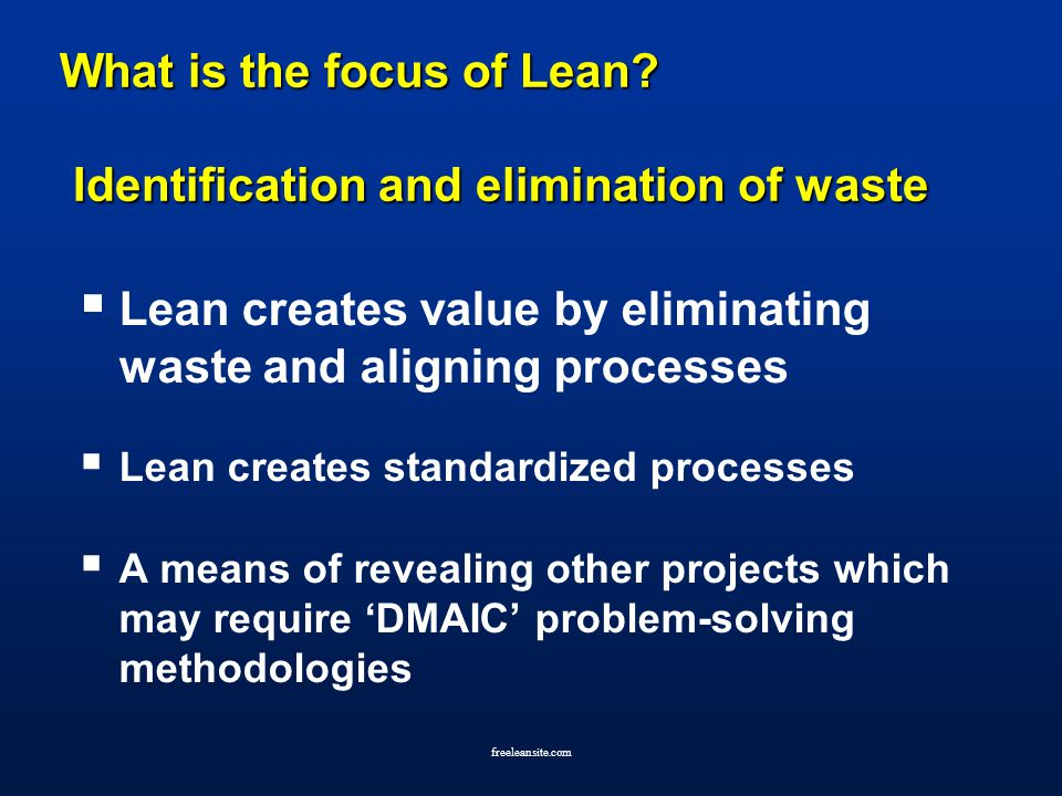 elimination of waste in a lean My three posts this week will be the final three posts about some of the deeper understanding i got from attending the lean experience class facilitated by jamie flinchbaugh and andy carlino from the lean learning center.