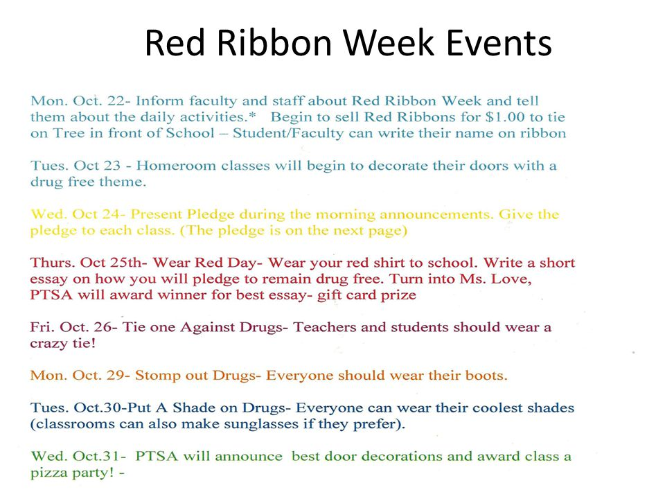 lovejoy middle school recognizes ppt video online  26 red ribbon week events