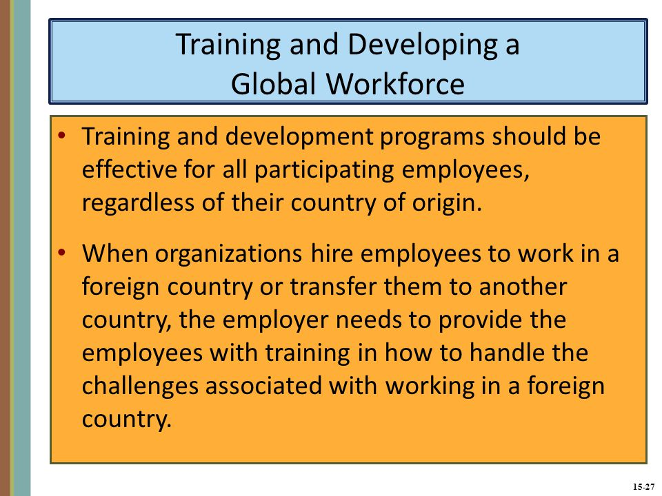 the effects of training and developing the Employees is in the very interest of the organization itself as it has a positive effect on productivity as highlighted in the literature review section, there is a relationship between training & developing employees and their job performance  behind training & developing employees, training elements, the role of training & development.