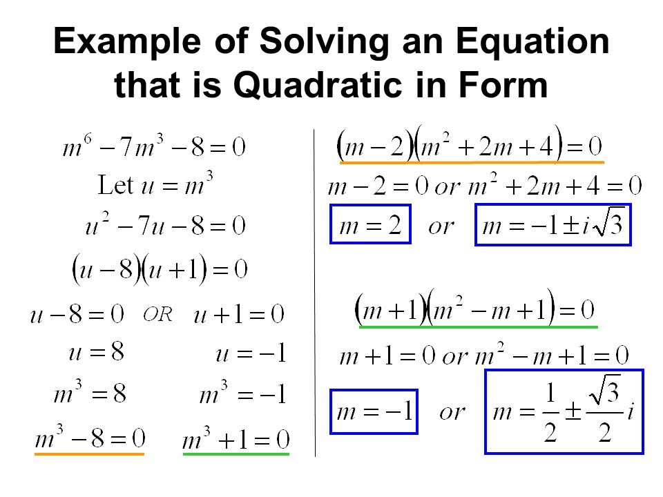 how to make a quadratic equation