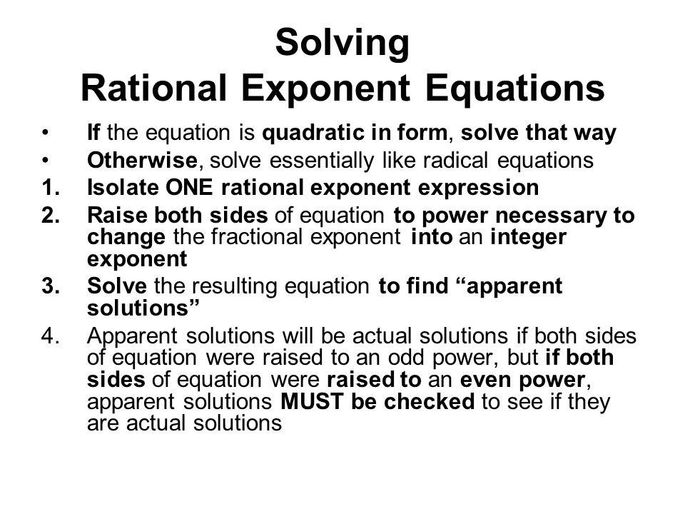 solving rational exponent equations worksheet answers tessshebaylo. Black Bedroom Furniture Sets. Home Design Ideas