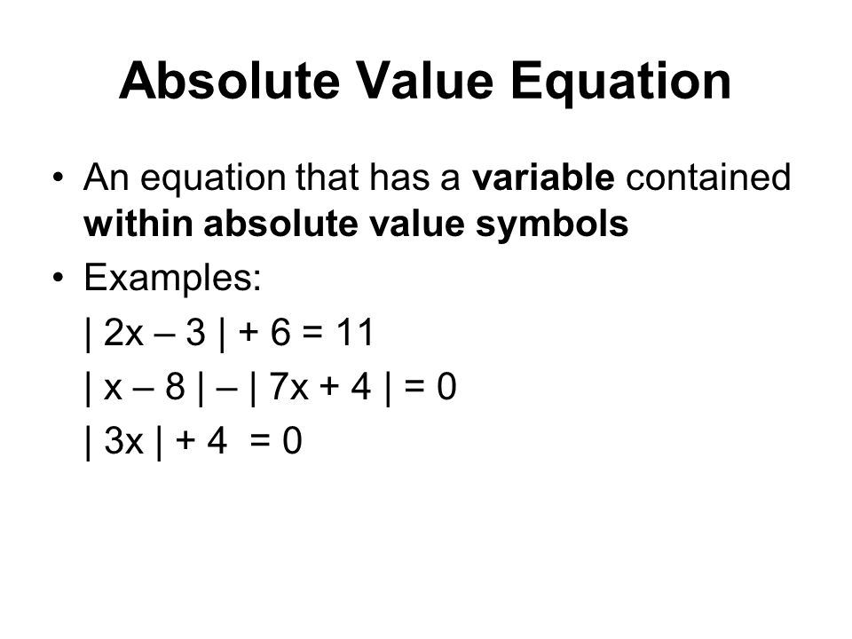 Can an absolute value equation ever have and infinite amount of solutions?