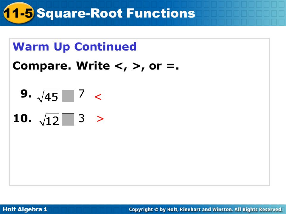 √Square Roots
