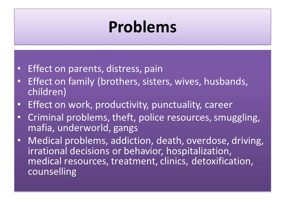 the effect of family problem essay