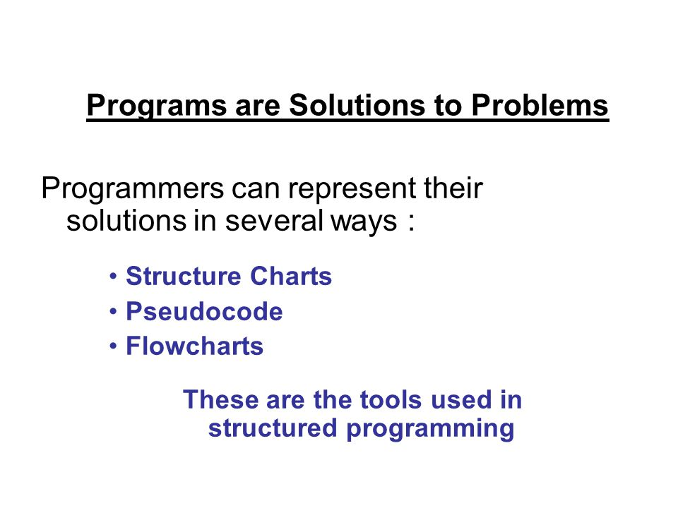 Programs are Solutions to Problems