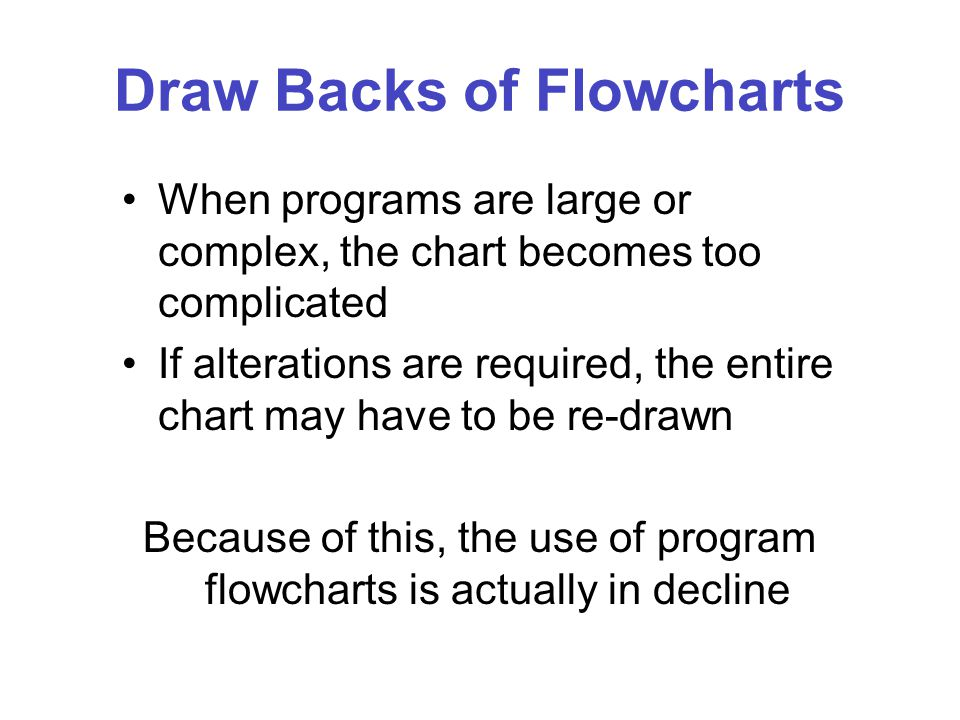 Draw Backs of Flowcharts