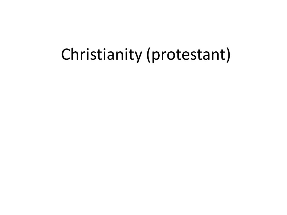 Christianity (protestant)
